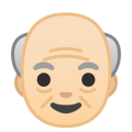 Old Man: Light Skin Tone on Google Android 10.0 March 2020 Feature Drop