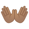 Open Hands: Medium Skin Tone on Google Android 10.0 March 2020 Feature Drop