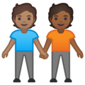 People Holding Hands: Medium Skin Tone, Medium-Dark Skin Tone on Google Android 10.0 March 2020 Feature Drop