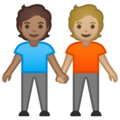 People Holding Hands: Medium Skin Tone, Medium-Light Skin Tone on Google Android 10.0 March 2020 Feature Drop