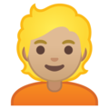 Person: Medium-Light Skin Tone, Blond Hair on Google Android 10.0 March 2020 Feature Drop