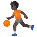Person Bouncing Ball: Dark Skin Tone on Google Android 10.0 March 2020 Feature Drop