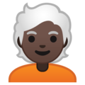 Person: Dark Skin Tone, White Hair on Google Android 10.0 March 2020 Feature Drop