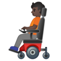 Person in Motorized Wheelchair: Dark Skin Tone on Google Android 10.0 March 2020 Feature Drop