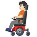 Person in Motorized Wheelchair: Light Skin Tone on Google Android 10.0 March 2020 Feature Drop
