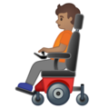 Person in Motorized Wheelchair: Medium Skin Tone on Google Android 10.0 March 2020 Feature Drop