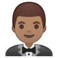 Person in Tuxedo: Medium Skin Tone on Google Android 10.0 March 2020 Feature Drop