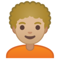 Person: Medium-Light Skin Tone, Curly Hair on Google Android 10.0 March 2020 Feature Drop