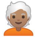 Person: Medium Skin Tone, White Hair on Google Android 10.0 March 2020 Feature Drop