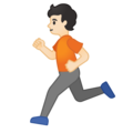 Person Running: Light Skin Tone on Google Android 10.0 March 2020 Feature Drop