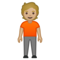 Person Standing: Medium-Light Skin Tone on Google Android 10.0 March 2020 Feature Drop