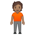 Person Standing: Medium Skin Tone on Google Android 10.0 March 2020 Feature Drop