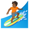Person Surfing: Medium-Dark Skin Tone on Google Android 10.0 March 2020 Feature Drop