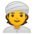Person Wearing Turban on Google Android 10.0 March 2020 Feature Drop