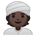 Person Wearing Turban: Dark Skin Tone on Google Android 10.0 March 2020 Feature Drop
