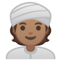 Person Wearing Turban: Medium Skin Tone on Google Android 10.0 March 2020 Feature Drop