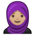 Woman with Headscarf: Medium-Light Skin Tone on Google Android 10.0 March 2020 Feature Drop