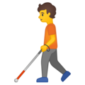 Person with White Cane on Google Android 10.0 March 2020 Feature Drop
