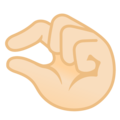 Pinching Hand: Light Skin Tone on Google Android 10.0 March 2020 Feature Drop