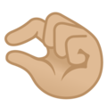 Pinching Hand: Medium-Light Skin Tone on Google Android 10.0 March 2020 Feature Drop
