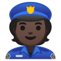 Police Officer: Dark Skin Tone on Google Android 10.0 March 2020 Feature Drop