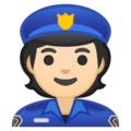 Police Officer: Light Skin Tone on Google Android 10.0 March 2020 Feature Drop
