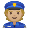 Police Officer: Medium-Light Skin Tone on Google Android 10.0 March 2020 Feature Drop