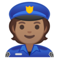 Police Officer: Medium Skin Tone on Google Android 10.0 March 2020 Feature Drop