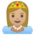 Princess: Medium-Light Skin Tone on Google Android 10.0 March 2020 Feature Drop
