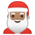 Santa Claus: Medium Skin Tone on Google Android 10.0 March 2020 Feature Drop