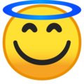 Smiling Face with Halo on Google Android 10.0 March 2020 Feature Drop