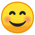 Smiling Face with Smiling Eyes on Google Android 10.0 March 2020 Feature Drop