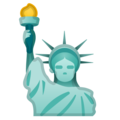Statue of Liberty on Google Android 10.0 March 2020 Feature Drop