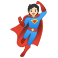 Superhero: Light Skin Tone on Google Android 10.0 March 2020 Feature Drop