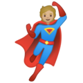 Superhero: Medium-Light Skin Tone on Google Android 10.0 March 2020 Feature Drop