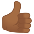 Thumbs Up: Medium-Dark Skin Tone on Google Android 10.0 March 2020 Feature Drop