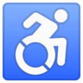 Wheelchair Symbol on Google Android 10.0 March 2020 Feature Drop