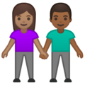 Woman and Man Holding Hands: Medium Skin Tone, Medium-Dark Skin Tone on Google Android 10.0 March 2020 Feature Drop