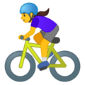 Woman Biking on Google Android 10.0 March 2020 Feature Drop