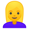 Woman: Blond Hair on Google Android 10.0 March 2020 Feature Drop