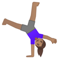 Woman Cartwheeling: Medium Skin Tone on Google Android 10.0 March 2020 Feature Drop