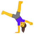 Woman Cartwheeling on Google Android 10.0 March 2020 Feature Drop