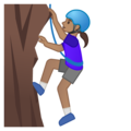 Woman Climbing: Medium Skin Tone on Google Android 10.0 March 2020 Feature Drop
