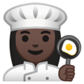 Woman Cook: Dark Skin Tone on Google Android 10.0 March 2020 Feature Drop