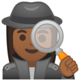 Woman Detective: Medium-Dark Skin Tone on Google Android 10.0 March 2020 Feature Drop