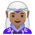 Woman Elf: Medium Skin Tone on Google Android 10.0 March 2020 Feature Drop