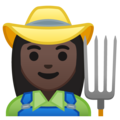 Woman Farmer: Dark Skin Tone on Google Android 10.0 March 2020 Feature Drop