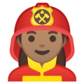Woman Firefighter: Medium Skin Tone on Google Android 10.0 March 2020 Feature Drop