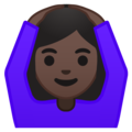 Woman Gesturing OK: Dark Skin Tone on Google Android 10.0 March 2020 Feature Drop
