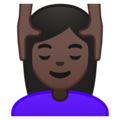 Woman Getting Massage: Dark Skin Tone on Google Android 10.0 March 2020 Feature Drop